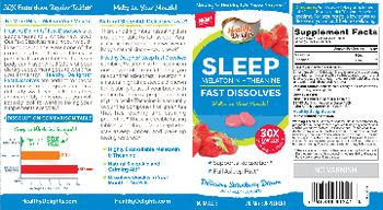 Healthy Delights Sleep Melatonin + Theanine Fast Dissolves Delicious Strawberry Dream - supplement