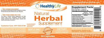 Healthy For Life Natural Herbal Supplement - supplement