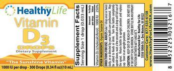 Healthy For Life Vitamin D3 Drops - supplement