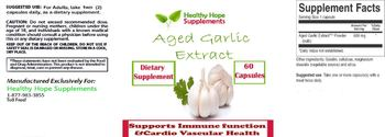 Healthy Hope Supplements Aged Garlic Extract - supplement