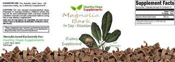 Healthy Hope Supplements Magnolia Bark - supplement