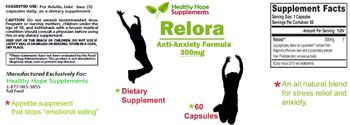 Healthy Hope Supplements Relora Anti-Anxiety Formula 300 mg - supplement