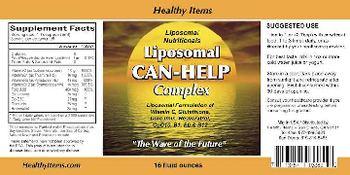 Healthy Items Liposomal Nutritionals Liposomal Can-Help Complex -