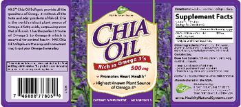 Healthy Natural Systems Chia Oil - supplement