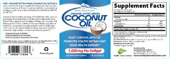 Healthy Natural Systems Organic Extra Virgin Coconut Oil -