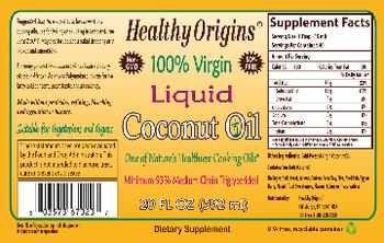 Healthy Origins Liquid Coconut Oil - supplement