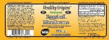 Healthy Origins Natural Eggshell Membrane - supplement