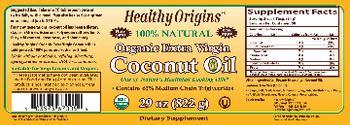 Healthy Origins Organic Extra Virgin Coconut Oil - supplement