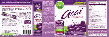 Healthy To Go! Acai Energy Boost Natural Tropical Punch Flavor -