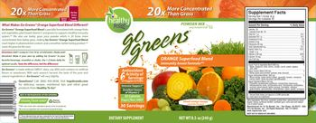 Healthy To Go! Go Greens Orange Superfood Blend Blood Orange Mango - supplement