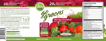 Healthy To Go! Go Greens Red Superfood Blend Dragonfruit Raspberry - supplement