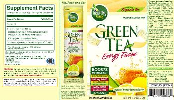 Healthy To Go! Green Tea Energy Fushion Natural Honey Lemon Flavor - supplement