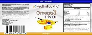 HealthyBodyInc Omega 3 Fish Oil - supplement