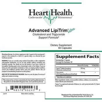 Heart Health Advanced LipiTrim Ultra - supplement