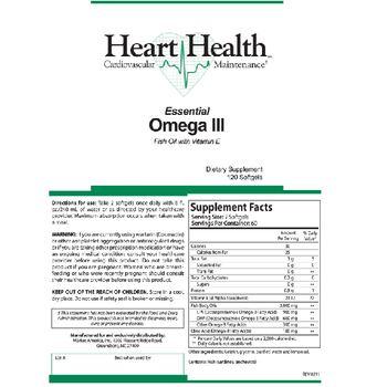 Heart Health Essential Omega III - supplement