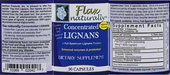 Heartland Products Flax Naturally Concentrated Lignans - supplement