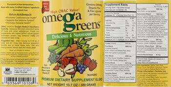Heartland Products Omega Greens - premium supplement blend