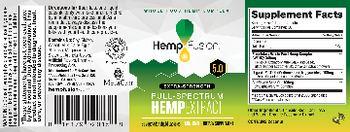 HempFusion Extra-Strength 5.0 Full-Spectrum Hemp Extract - supplement