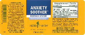 Herb Pharm Anxiety Soother - herbal supplement