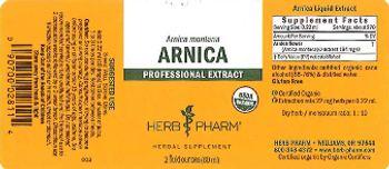 Herb Pharm Arnica - herbal supplement