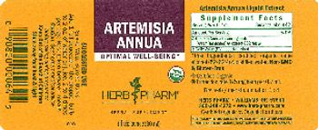 Herb Pharm Artemisia Annua - herbal supplement