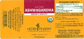 Herb Pharm Ashwagandha - herbal supplement
