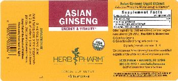 Herb Pharm Asian Ginseng - herbal supplement