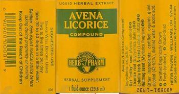 Herb Pharm Avena Licorice Compound - herbal supplement