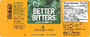Herb Pharm Better Bitters Absinthium - herbal supplement
