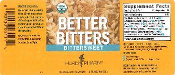Herb Pharm Better Bitters Bittersweet - herbal supplement