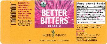 Herb Pharm Better Bitters Classic - herbal supplement