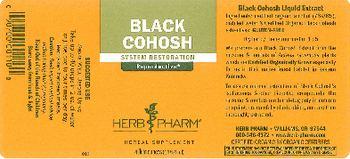 Herb Pharm Black Cohosh - herbal supplement