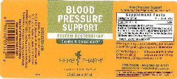 Herb Pharm Blood Pressure Support - herbal supplement