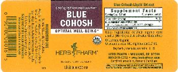 Herb Pharm Blue Cohosh - herbal supplement
