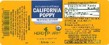 Herb Pharm California Poppy - herbal supplement