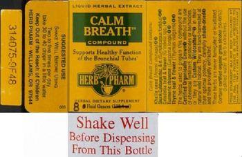 Herb Pharm Calm Breath Compound - herbal supplement