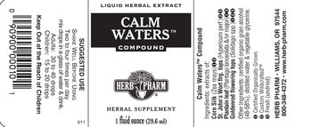 Herb Pharm Calm Waters Compound - herbal supplement