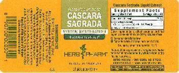 Herb Pharm Cascara Sagrada - herbal supplement