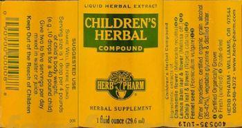 Herb Pharm Children's Herbal Compound - herbal supplement