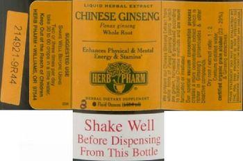 Herb Pharm Chinese Ginseng - herbal supplement
