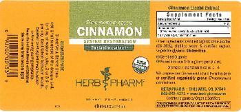 Herb Pharm Cinnamon - herbal supplement