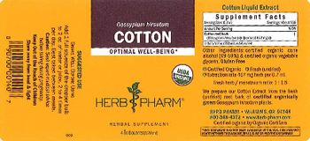 Herb Pharm Cotton - herbal supplement