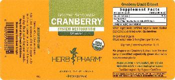 Herb Pharm Cranberry - herbal supplement