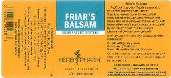 Herb Pharm Friar's Balsam - herbal supplement