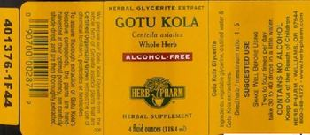 Herb Pharm Gotu Kola Alcohol-Free - herbal supplement