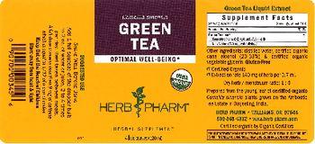 Herb Pharm Green Tea - herbal supplement