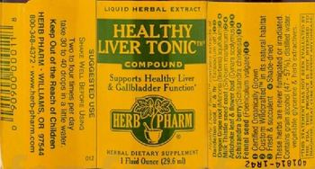 Herb Pharm Healthy Liver Tonic Compound - herbal supplement
