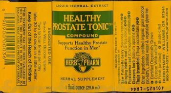 Herb Pharm Healthy Prostate Tonic Compound - this statement has not been evaluated by the fda this product is not intended to diagnose treat cure