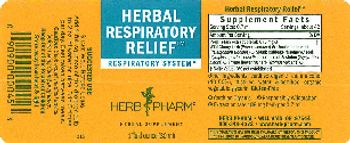Herb Pharm Herbal Respiratory Relief - herbal supplement