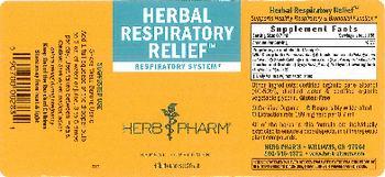 Herb Pharm Herbal Respiratory Relief - herbal supplement